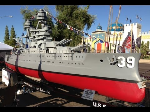 The USS Arizona Battle Ship, a 36-Foot 1:20 Scale Model Replica