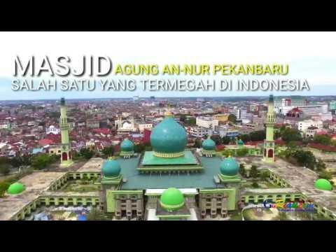 Megahnya Masjid Agung An Nur Pekanbaru dari udara