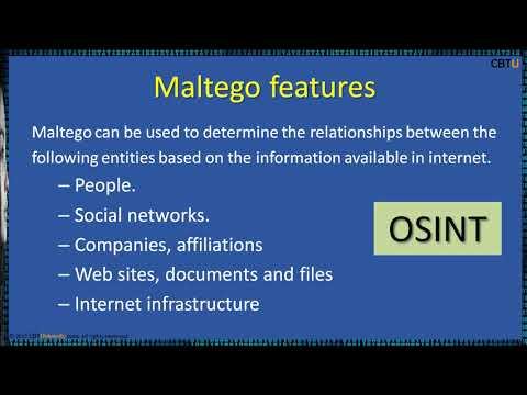 2.10 Maltego - Visual link analysis tool: part 1