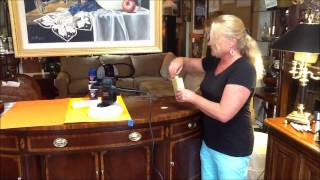 How To Restore Wood Furniture Using Restor A Shine | Home At Last Inc | 8/3/2013
