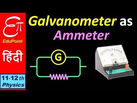 GALVANOMETER as AMMETER || video in HINDI
