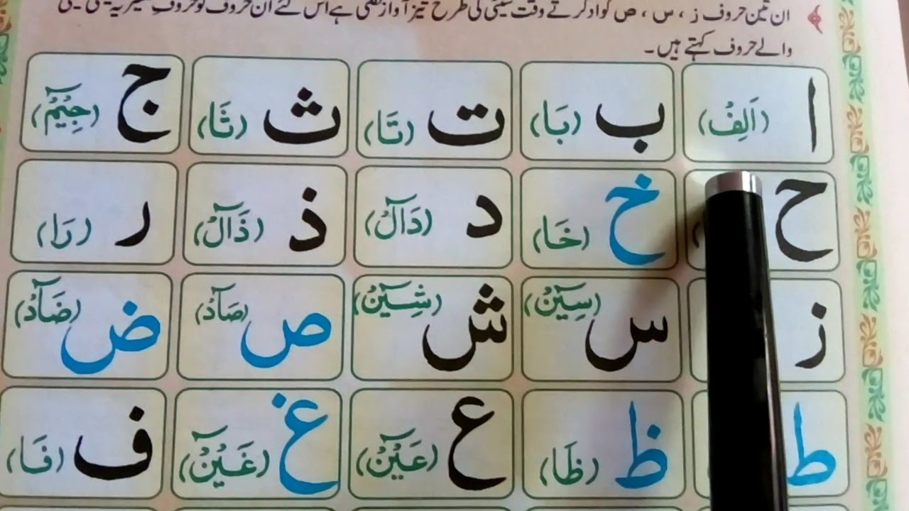 Arabic Alphabet Full || Lesson 01 Complete || Madani qaida leasan 1 full HD