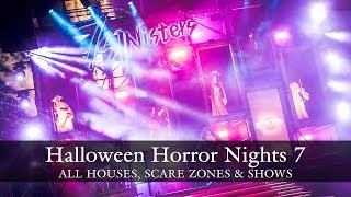 uss halloween horror nights 7 haunted houses scare zones highlights hhn7 2017