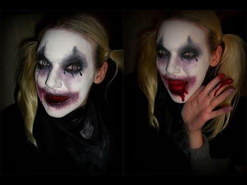Skummel Halloween Sminke.Skummel Klovn Makeup