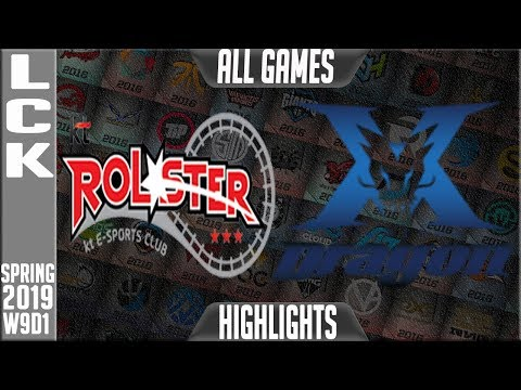 KZ vs KT Highlights ALL Games | LCK Spring 2019 Week 9 Day 1 | King-Zone DragonX vs KT Rolster