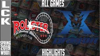 KZ vs KT Highlights ALL Games | LCK Spring 2019 Week 9 Day 1 | King-Zone DragonX vs KT Rolster