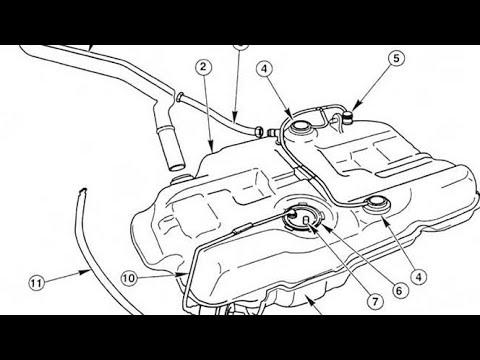 Как снять топливный бак ford mondeo 3 2.0tdci как открутить, поменять .