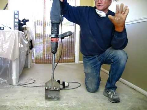 how to remove tile mastic or thinset the easy way - be your own ...