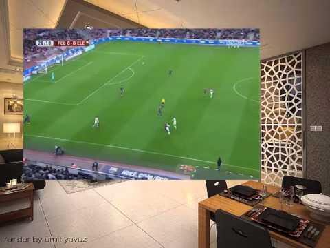Barcelona vs Elche   Copa del Rey  2014 2015 1st half