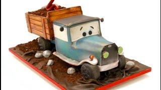 Vintage Dump Truck Birthday Cake