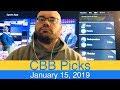 NCAAB Picks (1-15-19) | College Basketball CBB Expert Predictions | NCAAM | Men's NCAA