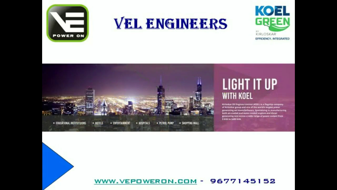 Authorized Kirloskar Diesel Generators - KOEL Green DG