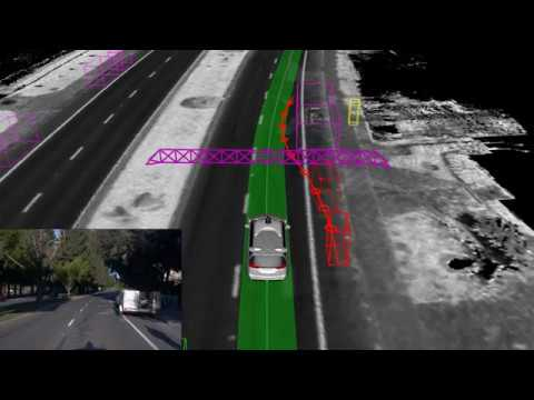 Waymo self-driving car allowing cyclists to pass