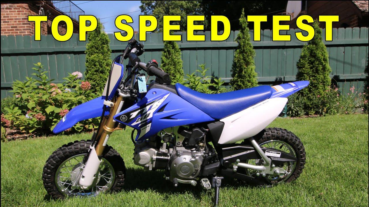 2015 Yamaha TTR 50 Top Speed (GPS VERIFIED) - YouTube