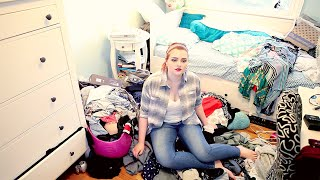 CLEANING MY DISGUSTING ROOM