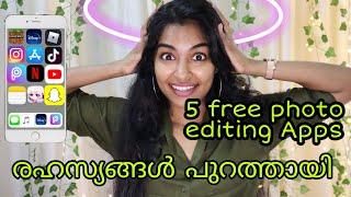ഫോട്ടോ എഡിറ്റ് ചെയ്യാൻ 5 കിടിലൻ Apps|Best Photo Editing Apps For Iphone And Android|Asvi Malayalam