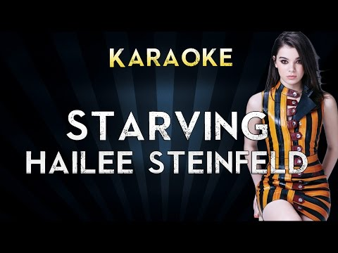 Hailee Steinfeld - STARVING | LOWER Key Karaoke Instrumental Lyrics Cover Sing Along