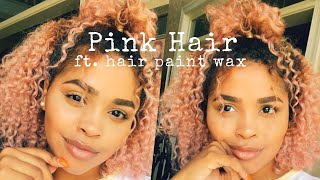 I DYED MY HAIR PINK! ft. Hair Paint Wax // Mia's Mane