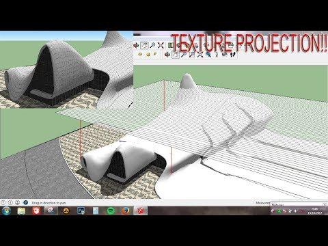 Tutorial Cara memproyeksikan tekstur ke bidang lengkung ( Sketchup Texture projection tutorial )