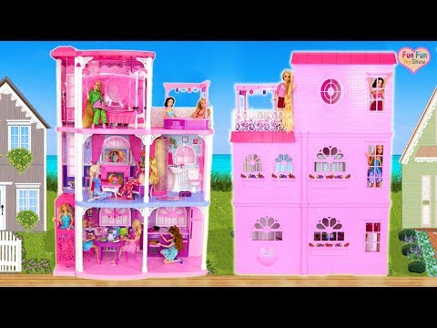 Barbie 3-Story Dream Town House Unboxing Rumah Boneka Barbie Puppenhaus