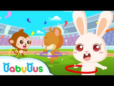 ❤ Panda Olympic Games - Hula Hoop | Animation For Babies | BabyBus