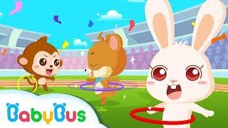 ❤ Panda Olympic Games - Hula Hoop | Animation For Babies | BabyBus