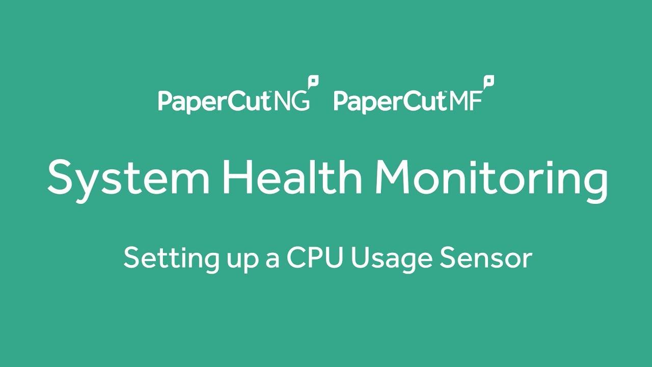 System Health Monitoring - CPU Sensor Setup