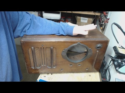 1937 WESTINGHOUSE WR-212 BC-SW Tabletop Tube Radio Part 1 of X First Look & Chassis Repairs