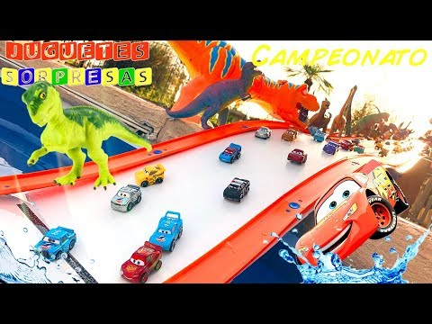 MINI RACERS  bolsas sorpresas 2 SUPER 6 LANE SPEEDWAY Carros de Carrera para niños - Pista de Coches