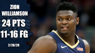 Zion's impressive rookie season continues in Pelicans vs. Cavaliers | 2019-20 NBA Highlights