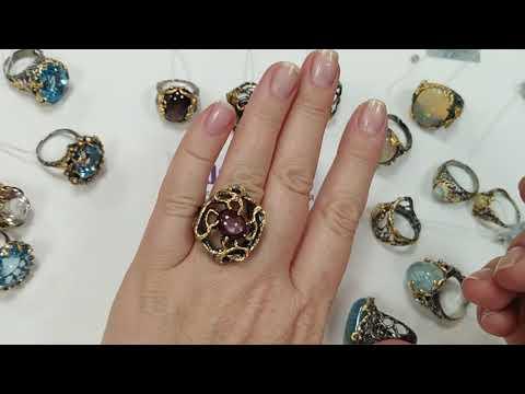 Крупные кольца.Серебряные украшения. Завод Gem Silver.