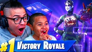 OMG *NEW* DARK BOMBER SKIN TURNED MY 10 YEAR OLD LITTLE BROTHER INTO A GOD! FORTNITE BATTLE ROYALE!