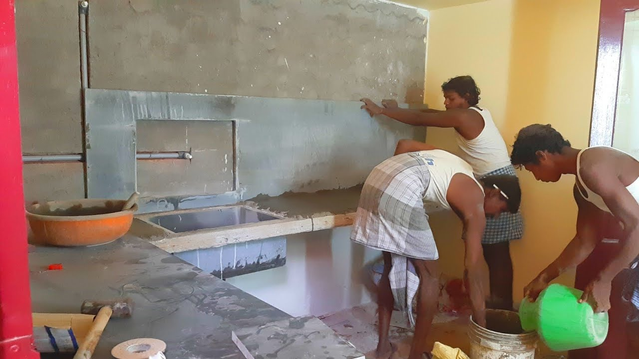 Amazing kitchen techniques-house kitchen countertops on granite with sink installation-sand cement