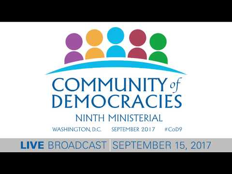 Community of Democracies Ninth Ministerial