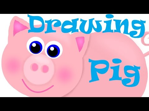 drawing pictures | cute pig pictures drawings | How to draw a pig | drawing a pig