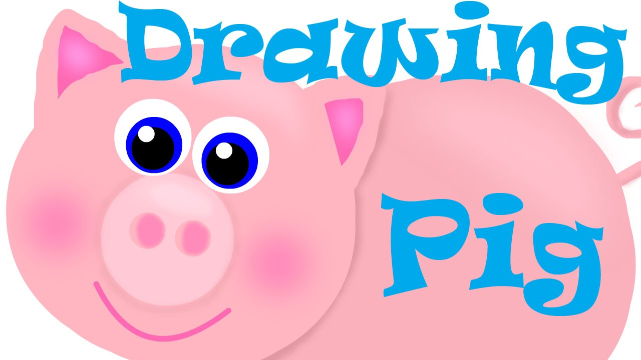 Funny pig drawing