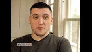 """About PTSD symptoms: """"I can't sleep without it [my gun]... """" SPC Rob Tucker"""