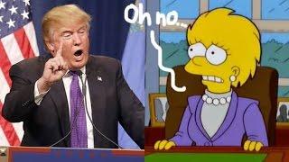辛普森家族預言Trump會當總統的完整片段 [The Simpsons] [中文字幕]