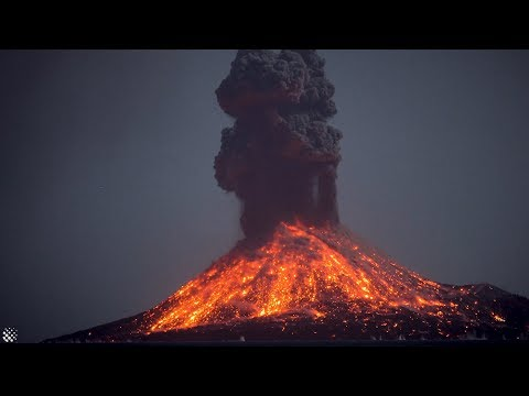 Incredible Krakatoa volcano