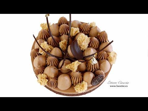 Financier con Mousse de Chocolate y Ganache Montada
