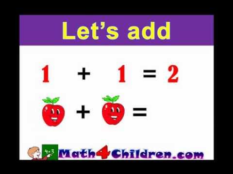 Math Addition Lesson For Kindergarten Amp 1st Grad - YouTube
