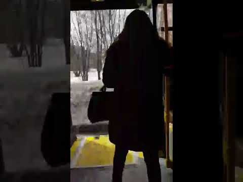 Десантирование пассажиров автобуса в Чебоксарах