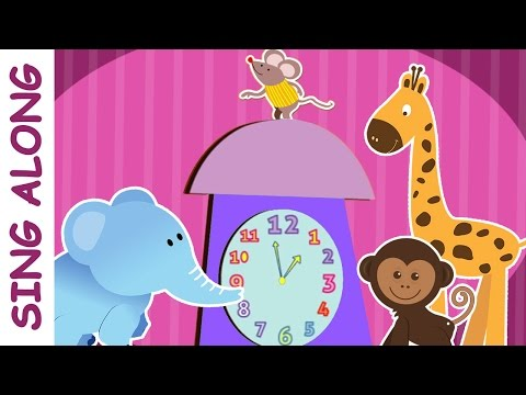Hickory Dickory Dock - Sing Along English Rhymes - Nursery Rhymes With Karaoke