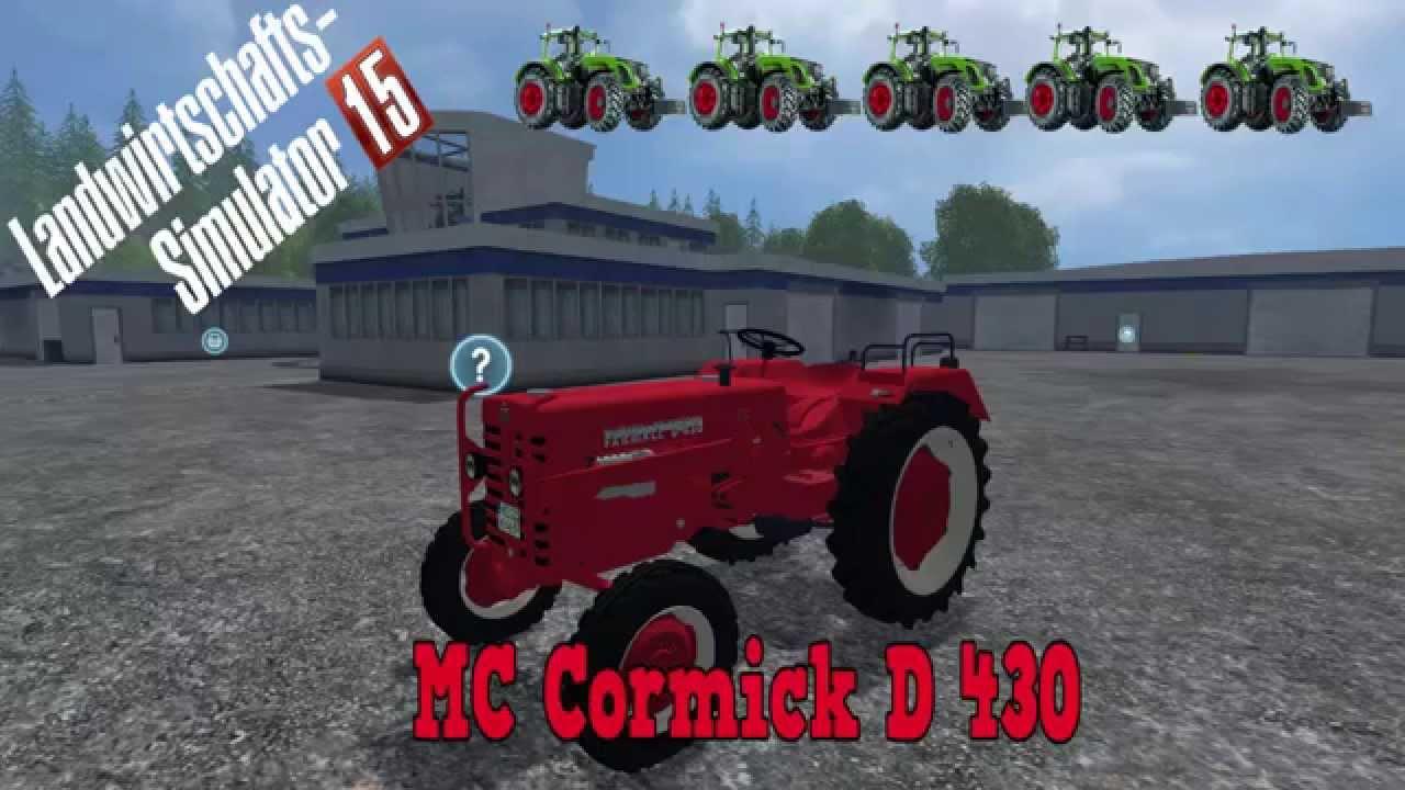 mc cormick d430 landwirtschafts simulator 15 mod tv. Black Bedroom Furniture Sets. Home Design Ideas