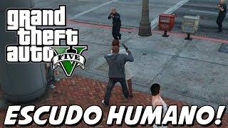 GTA V – Polícia METENDO BALA nos Reféns! HOSTAGE HUMAN SHIELD MOD