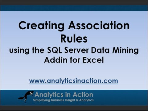 Creating Association Rules Using The SQL Server Data Mining Addin For Excel