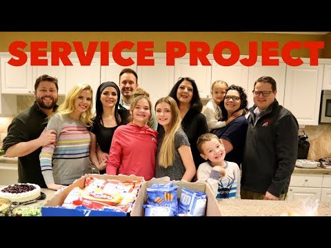 SERVICE PROJECT AND THANKSGIVING SHOPPING