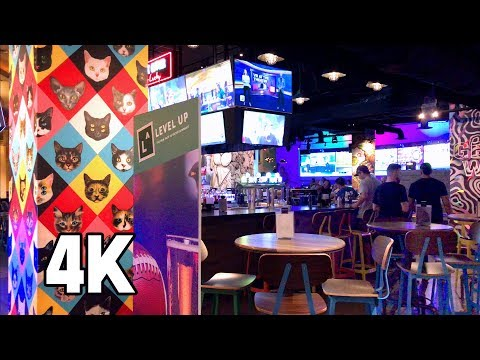 Level Up 21+ Arcade Bar MGM Grand Las Vegas 4K Tour