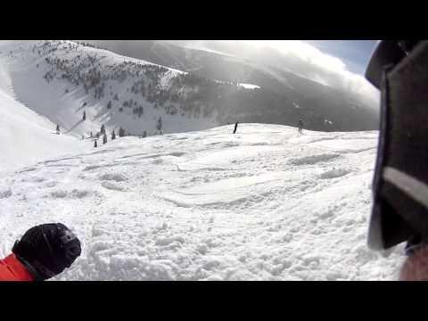 Skiing Vail Back Bowls on Jan 9, 2014