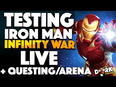 Testing Ironman Infinity War AND Questing and Arena